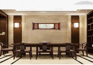 新中式客厅挂钟效果图,挂钟在客厅摆放效果图