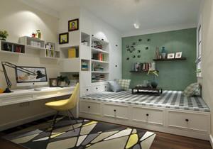 客厅隔出榻榻米小书房效果图,小书房榻榻米书房空间设计效果图大全