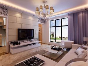 现代风格客厅窗帘效果图,现代简约风格客厅窗帘效果图