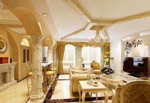 客厅石膏罗马柱装修效果图,复式楼客厅罗马柱装修效果图