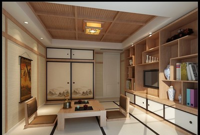 日式榻榻米小卧室装修效果图,小型榻榻米卧室装修效果图
