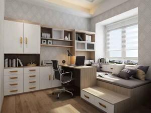 带榻榻米书房的客厅装修效果图欣赏,客厅带榻榻米书房装修效果图