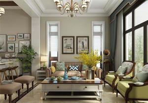 美式小户型客厅装修效果图大全,美式现代小户型客厅装修效果图