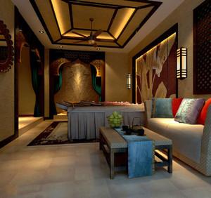 特色美容院装修效果图,东南亚风格美容院装修效果图