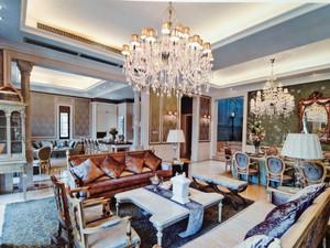 客厅吊灯装修效果图,欧式客厅吊灯效果图