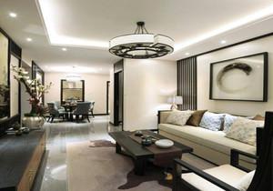 美式客厅吊灯效果图,2.7米高客厅吊灯效果图