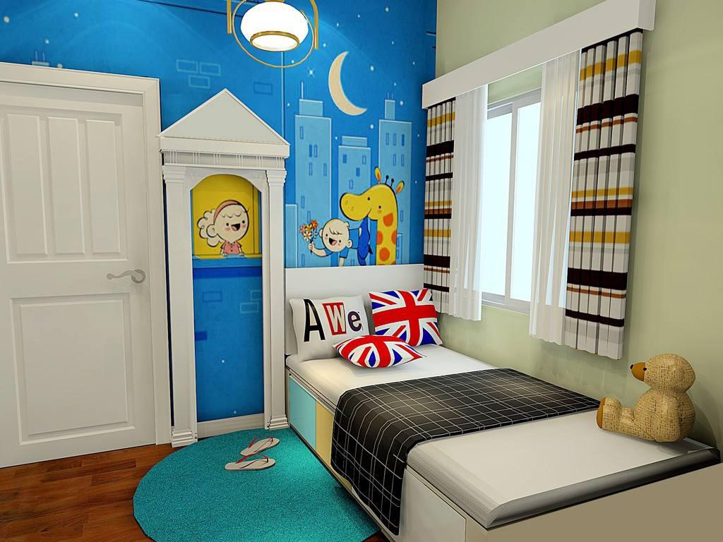 儿童榻榻米上下铺卧室效果图大全,次卧室儿童房榻榻米效果图大全