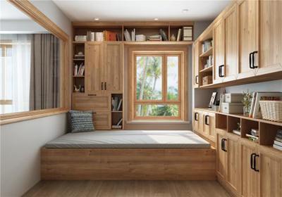 卧室榻榻米床装修效果图,北欧榻榻米风格卧室装修效果图