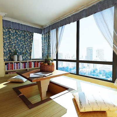 阳台卧室榻榻米装修效果图,客厅阳台榻榻米装修效果图大全
