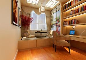 小书房榻榻米装修效果图,阳台小书房榻榻米效果图大全