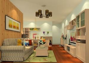 60平米小户型家装设计效果图,简欧小户型家装设计效果图大全