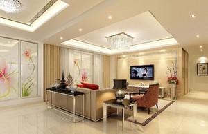 客厅装吊灯吊顶效果图,客厅面积不大装两个吊灯效果图