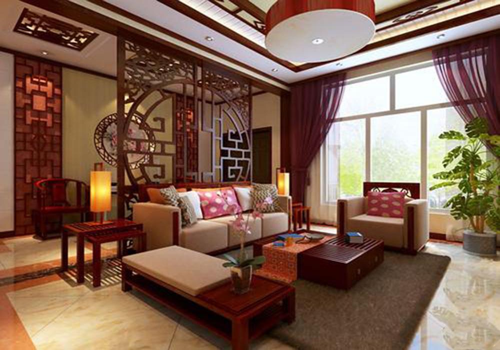 23平农村客厅装修效果图,农村中式客厅装修效果图