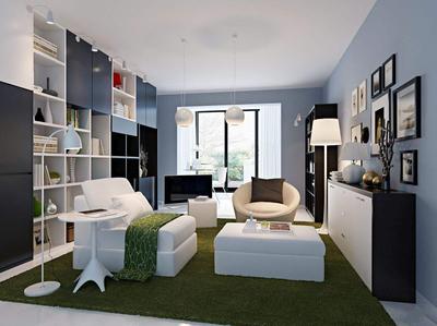 80平米小户型家装设计效果图大全,小户型浅色家装设计效果图