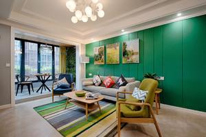 北欧风客厅装修实景图大全,长方型客厅装修实景图大全