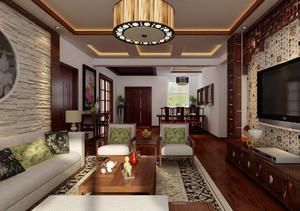 家庭古典中式客厅装修效果图,家庭长客厅装修效果图大全