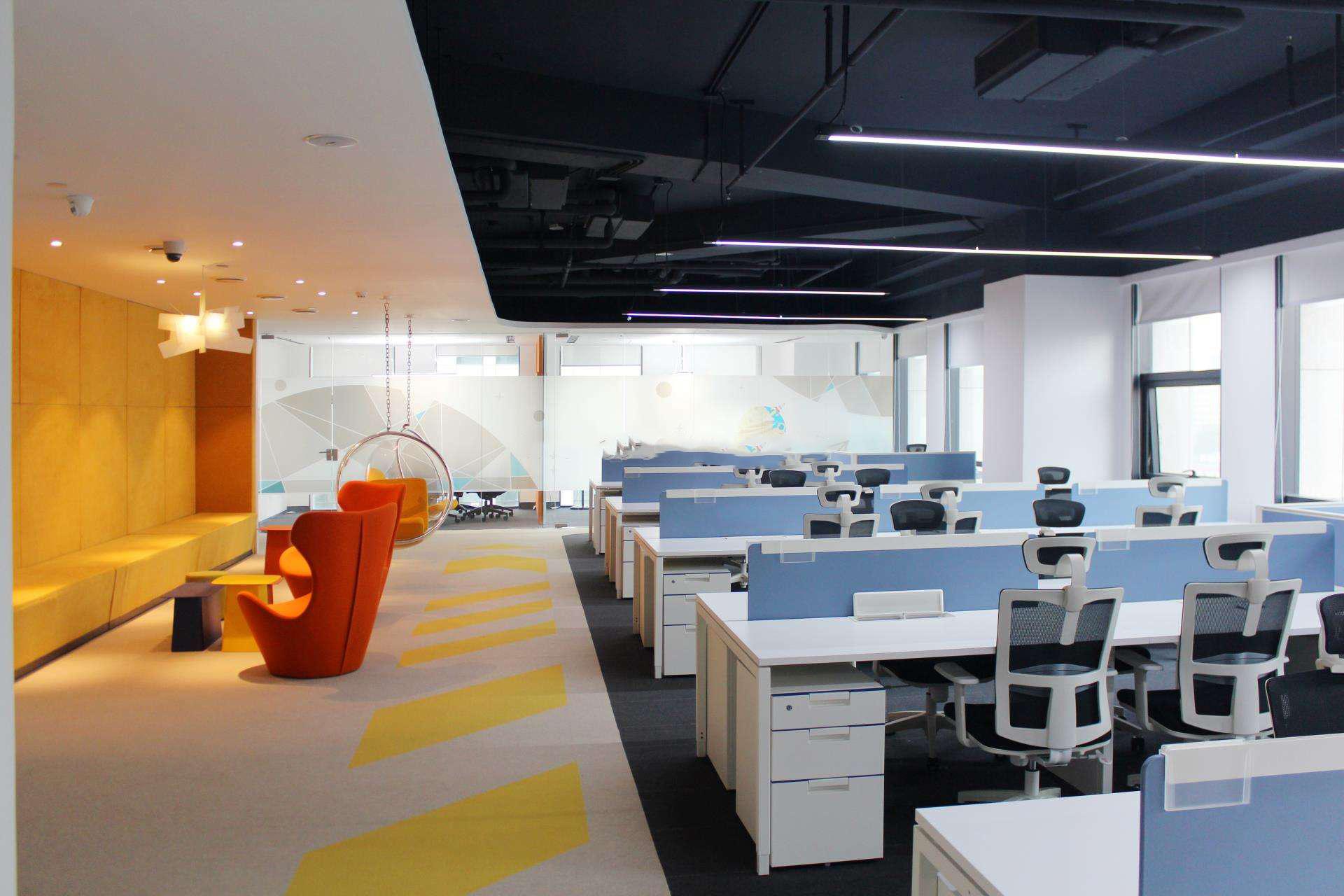 昆明互联网办公室装修,互联网科技办公室装修风格