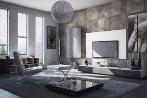 現代風格的客廳效果圖,現代風格裝修客廳效果圖