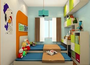 小户型儿童榻榻米卧室装修效果图,双层儿童榻榻米卧室装修效果图