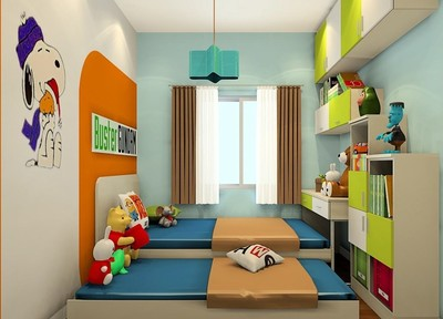 小戶型兒童榻榻米臥室裝修效果圖,雙層兒童榻榻米臥室裝修效果圖