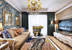 家装客厅装修效果图,欧式家装客厅效果图