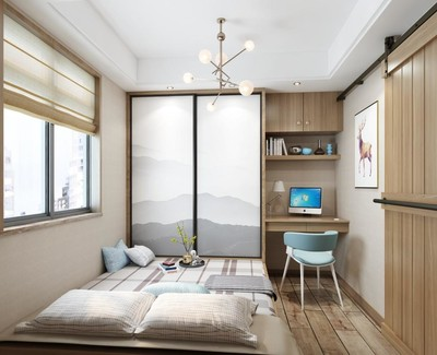 装修榻榻米卧室效果图,日式风格榻榻米卧室装修效果图