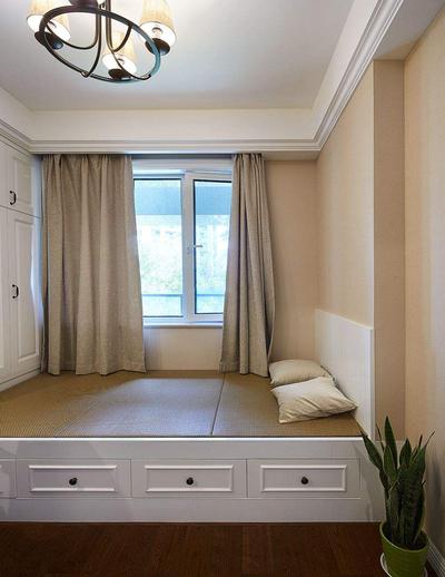 韩式榻榻米床装修效果图,榻榻米衣柜床一体装修效果图