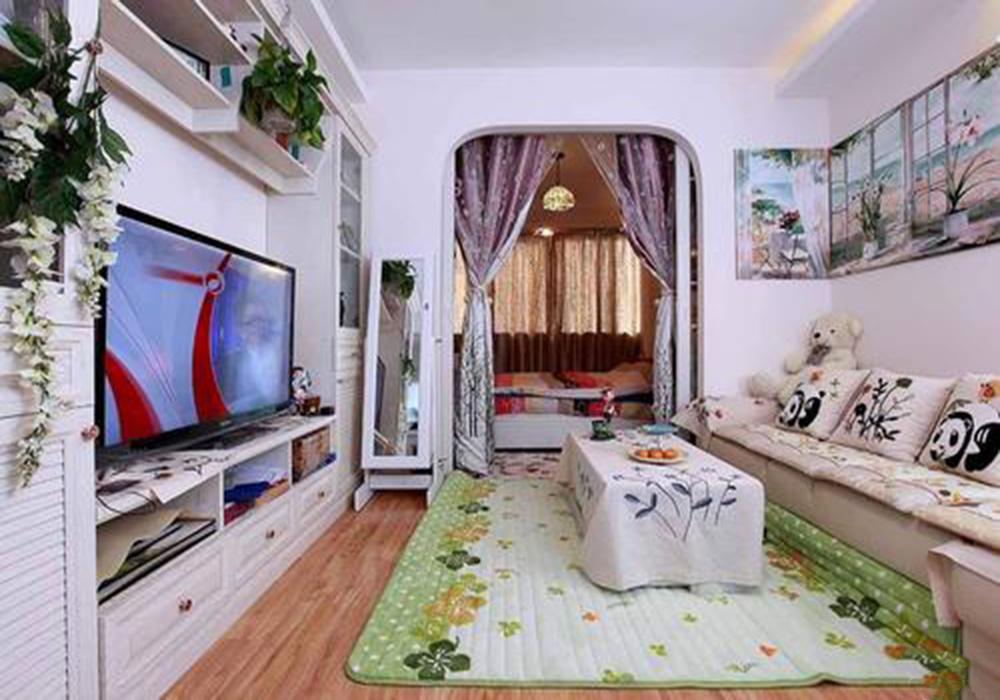 60平米小户型客厅装修效果图,60平米小户型简装修效果图