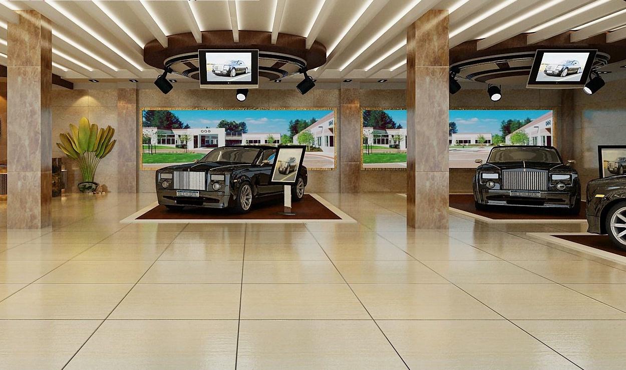 贴膜汽车美容店装修图,两间门面的汽车美容店装修图