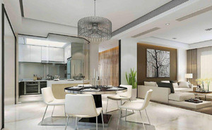 客厅餐厅厨房一体装修效果图,欧式客厅餐厅一体装修效果图