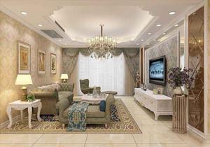 欧式客厅家装效果图,现代家装客厅效果图