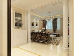 客厅一头有横梁怎么装修效果图,客厅罗马柱隔断装修效果图