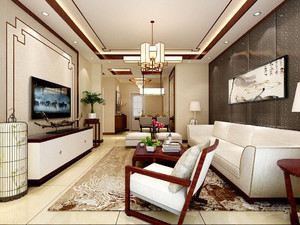 硅藻泥客厅中式装修效果图大全,硅藻泥客厅天花装修效果图大全