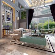 客厅现代灯具100平米装修
