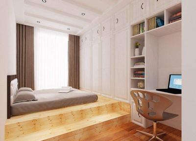 榻榻米床衣柜装修效果图,榻榻米床带书柜装修效果图