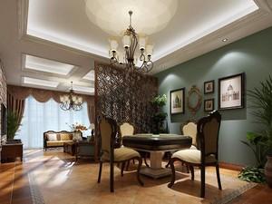 小戶型客廳的隔斷裝修效果圖,美式小戶型客廳裝修效果圖