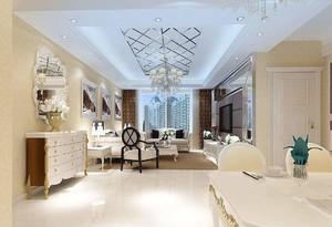 家庭餐厅客厅吊顶装修效果图,客厅水晶吊灯效果图