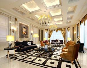 欧式现代风格客厅装修效果图,家居装修客厅吊顶效果图