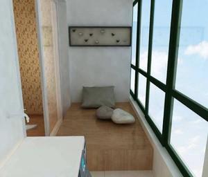 欧式阳台榻榻米装修效果图,阳台小榻榻米装修效果图