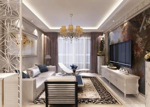 欧式客厅窗帘立面图,家装客厅窗帘效果图