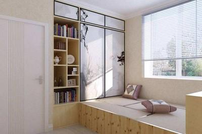 榻榻米欧式卧室家居装修效果图,8平米小卧室榻榻米装修效果图