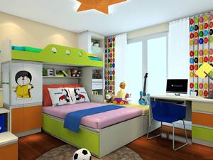 飘窗榻榻米床装修效果图,多功能榻榻米双层高底床装修效果图