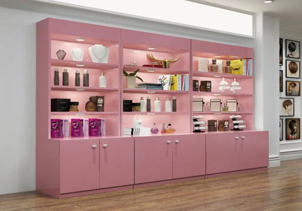 美容店产品柜装修图,美容店货架装修图