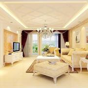 客厅简欧家具90平米装修