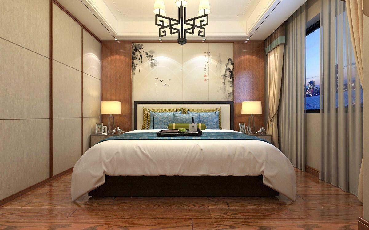 中式主卧榻榻米书房装修效果图,新中式卧室榻榻米装修效果图大全