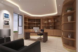 苏州个人办公室装修,弧形办公室装修实景图