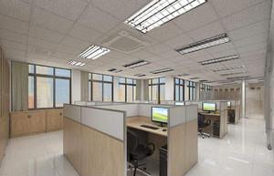 上海科技类办公室装修效果图,90平办公室装修实景图