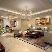 客厅现代瓷砖90平米装修
