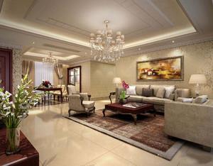 客厅瓷砖装修实景图大全,美式家装客厅地砖设计效果图