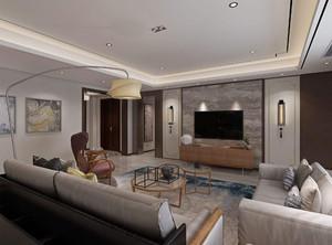 家装客厅瓷砖效果图,家庭客厅灰色瓷砖装修效果图